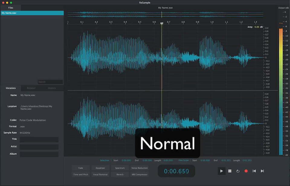 ReSample | 2nd Sense Audio - Resample Audio Editor & WIGGLE